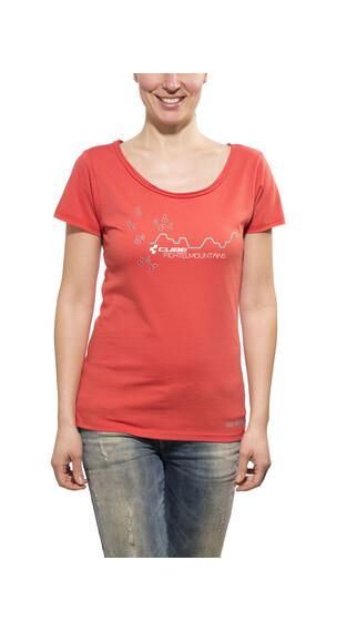 Cube Fichtelmountains T-shirt Dam röd